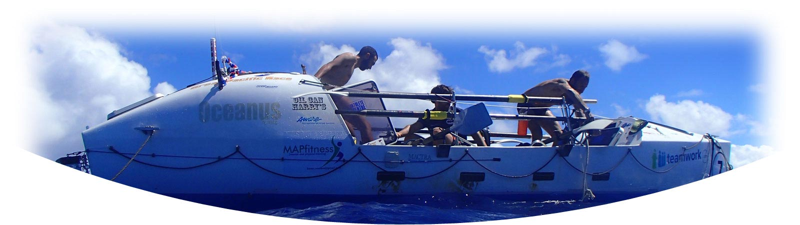 Barry Hayes crossing the Pacific Ocean in a rowing boat